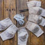 【ノーズワイヤーあり小学生サイズ】フィルターポケット付き立体マスクの材料&作り方
