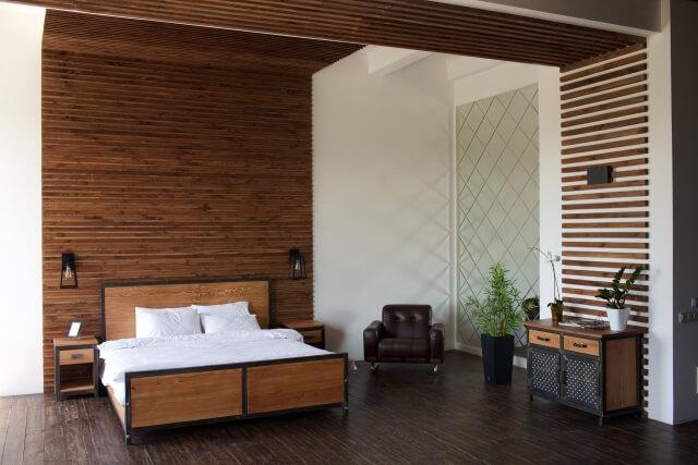 40代の大人っぽい寝室