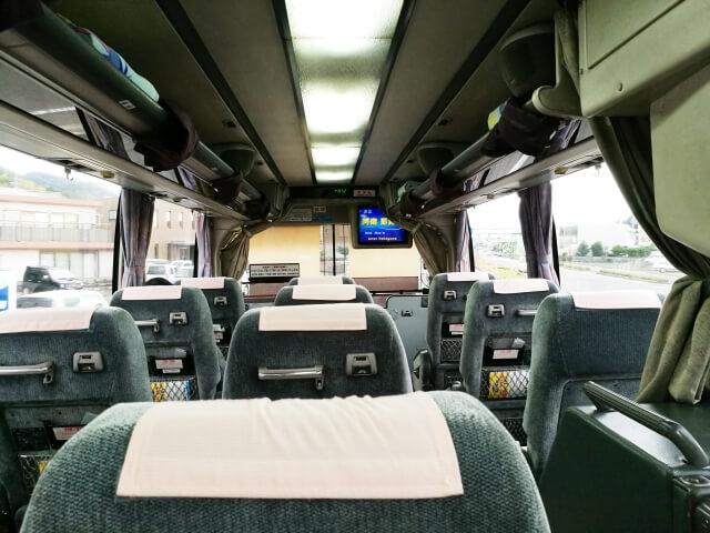 観光バスの座席