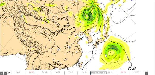 台風10号ヨーロッパ台風予想2020.9.4