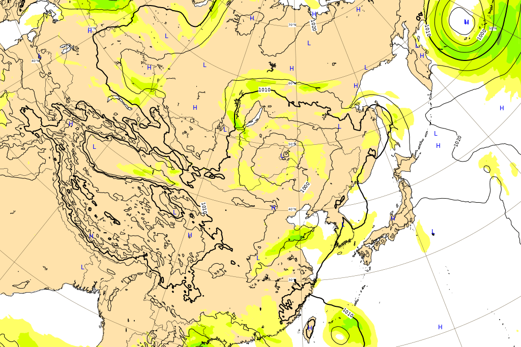 ヨーロッパ中期予報センターの2020台風4号進路図