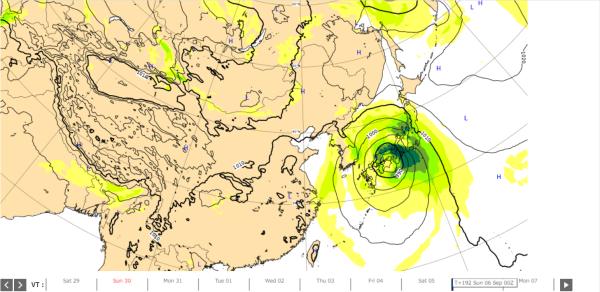 台風10号ヨーロッパ台風予想2020.9.6