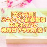 【女の子用】ミキハウス新春福袋2021!中身ネタバレと発売日や予約方法!