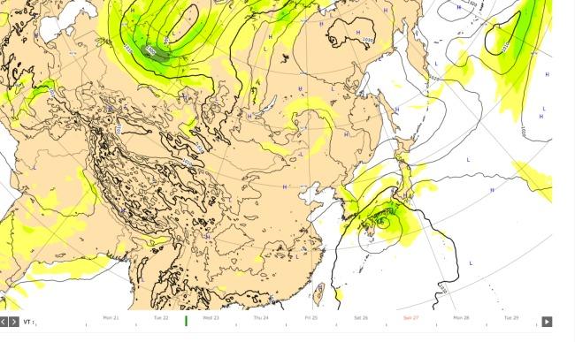 台風12号ヨーロッパ2020.9.23