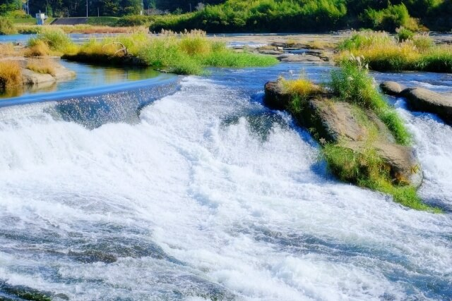 激しい川の流れ