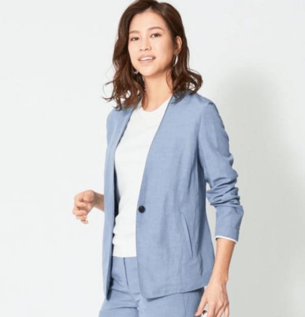 川口春奈ブルーのジャケットに似ているもの