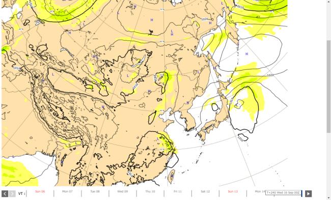 台風12号たまごヨーロッパ天気予想図2020-09-15