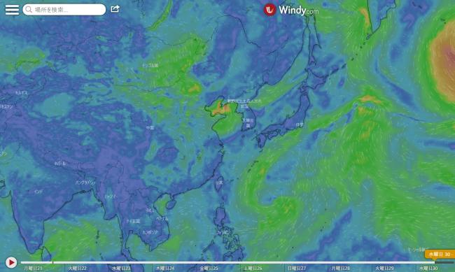 台風13号Windy2020.9.30