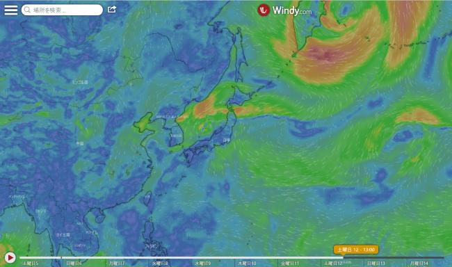 台風11号?2020.9.12windy