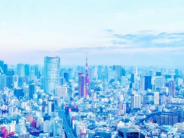 東京タワーとたくさんのビル