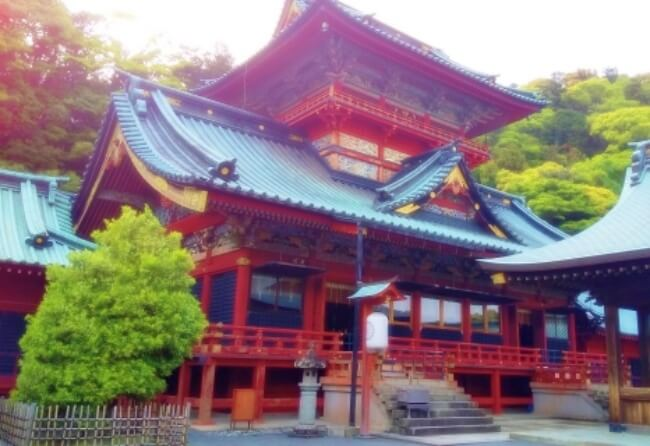 静岡浅間神社の境内