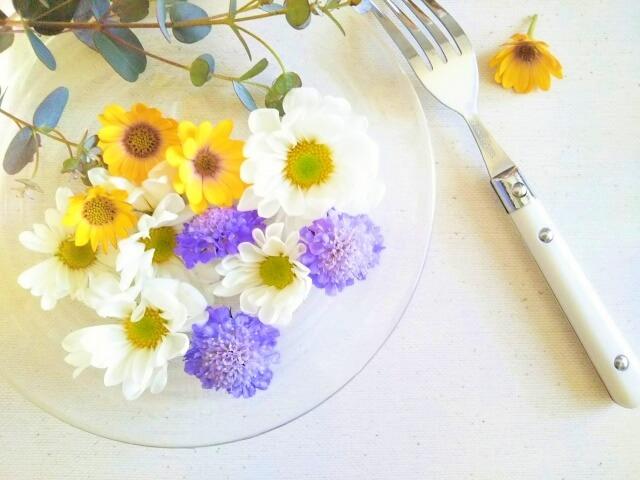 花とフォーク