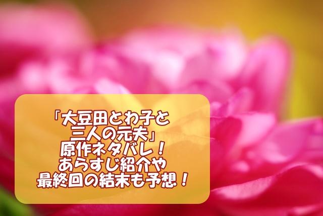 「大豆田とわ子と三人の元夫」の原作ネタバレ