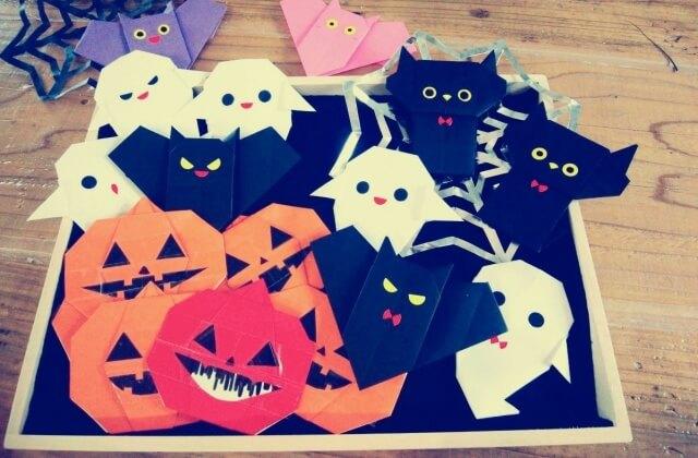 ハロウィンのおばけやかぼちゃ