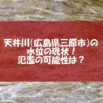 天井川の水位