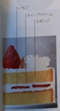 セブンイレブンのクリスマスケーキのショート断面
