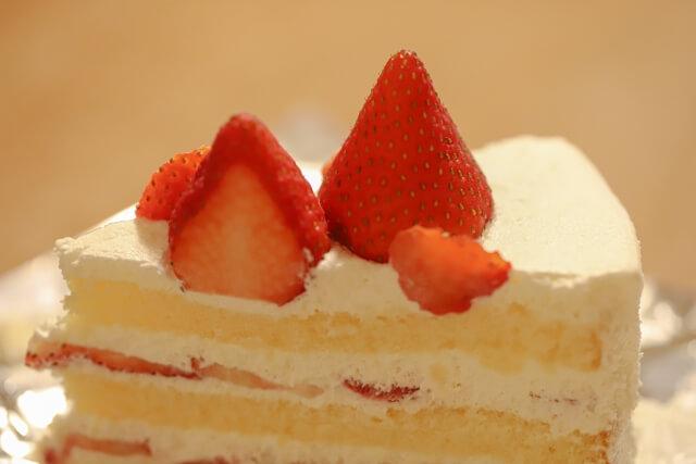 クリスマスケーキのショートケーキ