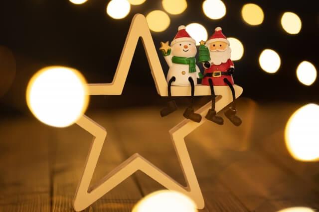 クリスマスのサンタの飾り